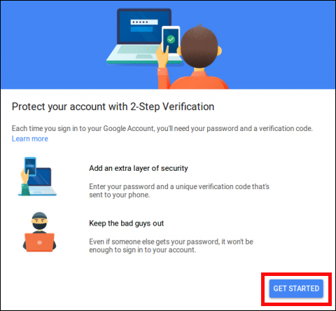 Email Configuration: Get started with 2-step verification in Gmail
