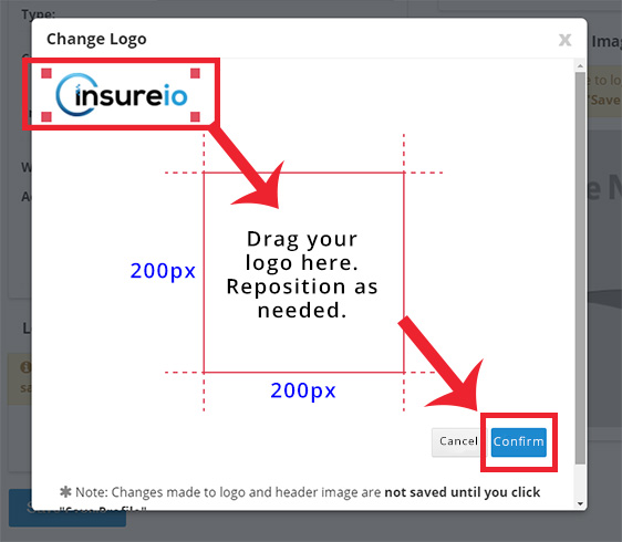 My Account - Branding Profile: How To Add Your Logo, Step 3