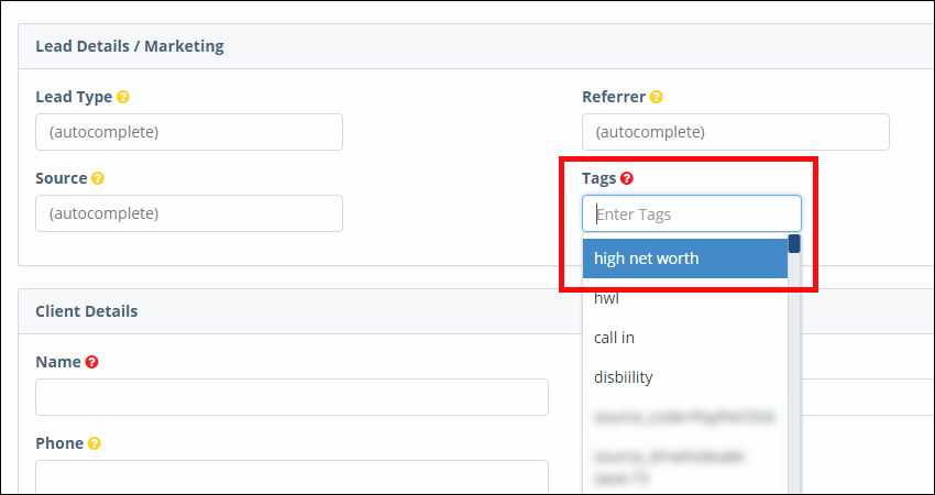 Marketing: Blast Email Report Selecting Contacts by Tags