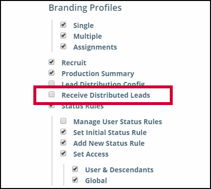 Lead Distribution: Toggle Ability to Receive Leads